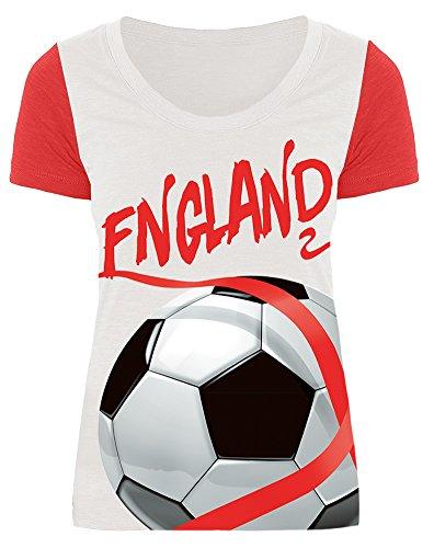 For G and PL WM 2018 2018 Damen England Soccer Team Fußball Außen Sport Party Championship T Shirt Trikot England 2018 S