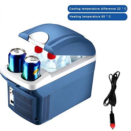 NOWAYTOSTART Mini Travel Kühlschrank Kühlbox Heiß Kalt Tragbare Elektrische Kühlbox Dual Use Kühler Wärmer Kühl und Wärmegerät Tragbarer Kühlschrank für Auto Home Office Picknick im Freien