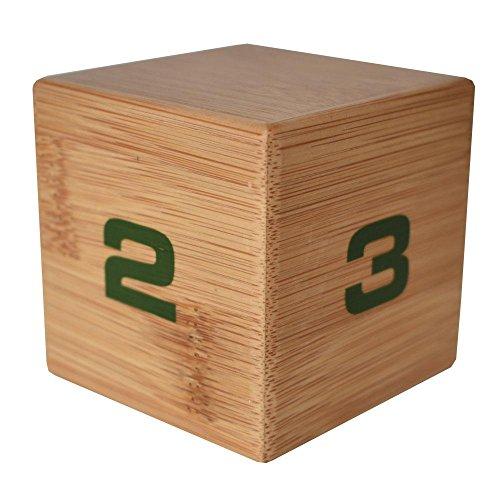 Datexx Time Cube Der Wunder-Zeitwürfel mit 1, 2, 3 und 4 Minuten für das Zeitmanagement - Küchen-Timer - Hausaufgaben-Timer - Trainings-Timer - Meeting-Timer | Bamboo -