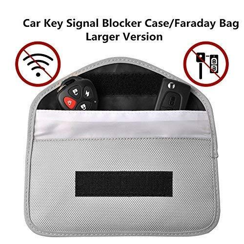Keyless Go Schutz Autoschlüssel,Autoschlüssel Schutz Keyless,Autoschlüssel Box,Diebstahl LOCK Geräte Blocks Signal von WiFi/GSM/LTE/NFC/RFID (Silber) (Signal-gerät)