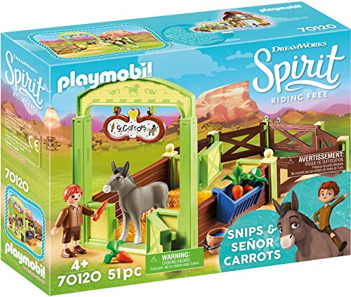Playmobil 70120 Spirit - Riding Free Pferdebox Snips & Herr Karotte, bunt -