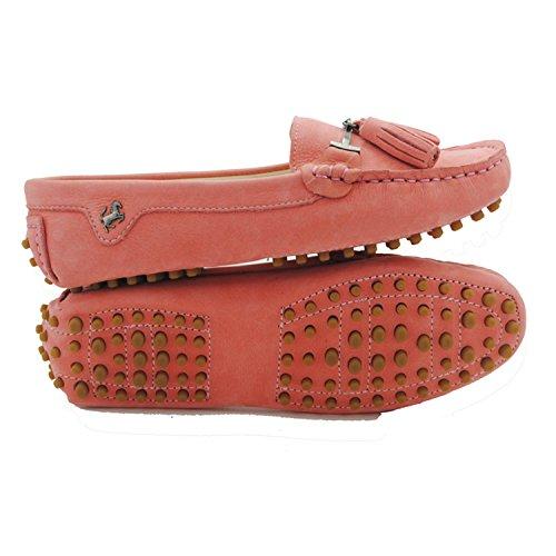 Minitoo JD568–3Mocassini da donna con nappa in camoscio Leather-Pink