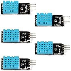 WINGONEER 5PCS del módulo DHT11 del sensor de la humedad de la temperatura para la frambuesa Pi 2 3 de Arduino