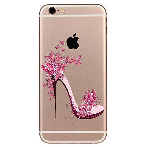 IPHONE SE 5 5S Hülle Weich Silikon TPU Schutzhülle Ultradünnen Case für iPhone 5 /5S/SE Schutz Hülle Schmetterling Fersen