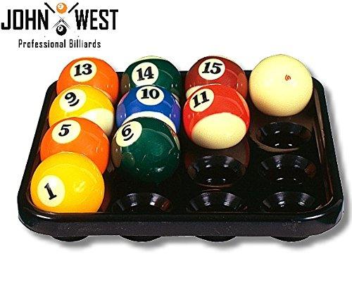 John West Balltablett für 16 Billardkugeln 57 mm