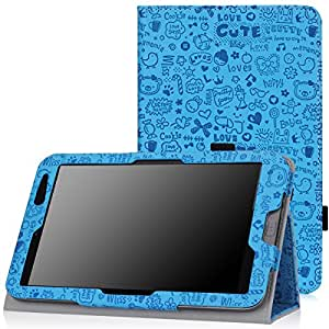 "Moko ACER Iconia W4-820 Case - Slim Folding Cover Case for ACER Iconia W4-820 8 "" Inch Windows 8.1 Android Tablet, Cutie Charm BLUE"