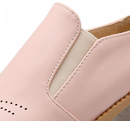 PBXP Loafers PU Slip-on Hollow Schuhe Runde-toe Low Heel Frauen Casual Party Büros Elegante Schuhe Europa Größe Customized Biger Größe 31-43 Pink