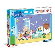 Clementoni Supercolor Puzzle-Peppa pig-104 pièces Maxi, Multicolore, 23735