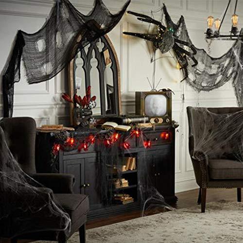 Schwarz Gruselige Tuch, Gruselige Halloween-Dekorationen, Halloween Spukhaus Party Dekoration Türöffnungen im Freien liefert, 315 '' X 79 '' - 5