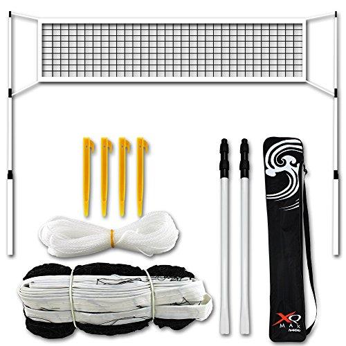 Federball Netz - Tennis Netz - Badminton Netz mit Tasche - Badminton- und Tennis-Netz