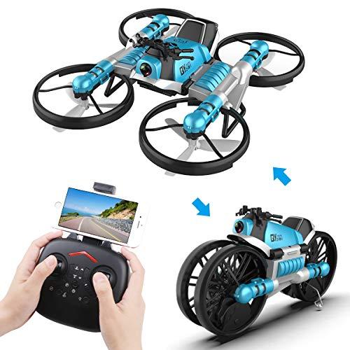 Makerfire 2 1 RC Plegable Drone Cámara Motocicleta