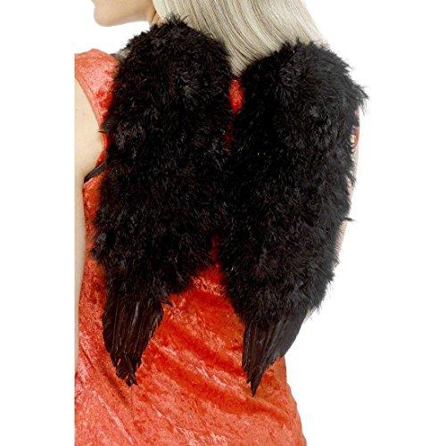 Schwarze Flügel Engelsflügel Gothic Engel Flügel Engelflügel Federflügel Kostüm Zubehör (Engel Gefallener Zubehör Kostüm)