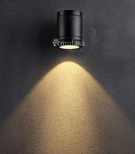 Mufasa 5W Down Light Outdoor LED Bulkhead Waterproof IP65 Exterior Wall Step Light Fixture Waterproof Lamp 5 Watts (Warm White)