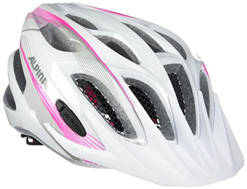 Alpina Kinder Radhelm FB JR 2.0 Flash Fahrradhelm, white-pink-silver, 50-55 cm