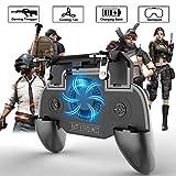 OXOQO PUBG Mobile Game Controller 4 en 1 Gamepad Gatillos con Banco de Energía y Ventilador de...