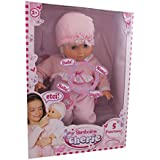 Dimian - Bambolina Cherie, muñeca bebé, color rosa y blanco (Claudio Reig BD313)