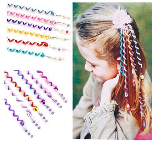 6 Stück verschiedene Farben für Frauen und Mädchen Haar Flechtwerkzeug, Haar-Styling, Styling Clip Friseur Zopf Maker für Festival Party Favor