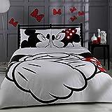100% Türkische Baumwolle Disney Mickey & Minnie Full Double Queen Size Quilt Bettbezug Set Bettwäsche von Disney-4PCS