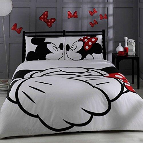 wolle Disney Mickey & Minnie Full Double Queen Größe Quilt Bettwäsche Tröster Set Betten von Disney-5PCS ()