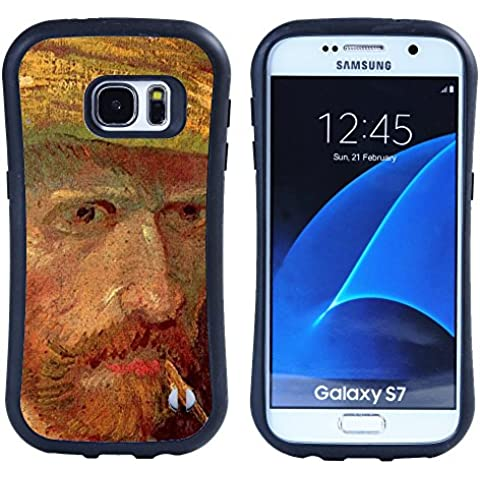 Super Galaxy iFace Slim Fit Seriesdual Layer Rigida Protettiva Custodia Case // V00006239 L'uomo con un cappello di Vin Van Gogh // Samsung Galaxy S7 (Not Fit S7 EDGE)