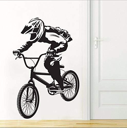 Fahrrad Biker Jungen Wandtattoo Art Decor Aufkleber Vinyl Wand Biker Tapeten Wandaufkleber 59 * 90 Cm ()