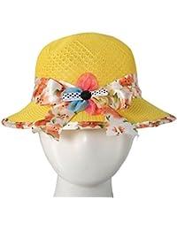 Beunew Baby Girl Bow Knot Bonnet Round Summer Party Fancy Cap Hat