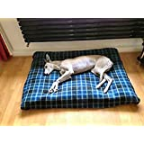 KosiPet® BLUE CHECK Fleece EXTRA LARGE SPARE COVER For Dog Bed,Dog Beds,Pet Bed,Dogbed,Dogbeds,Petbed,Petbeds,
