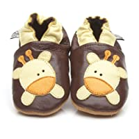 Soft Leather Baby Shoes Giraffe 12-18 Months