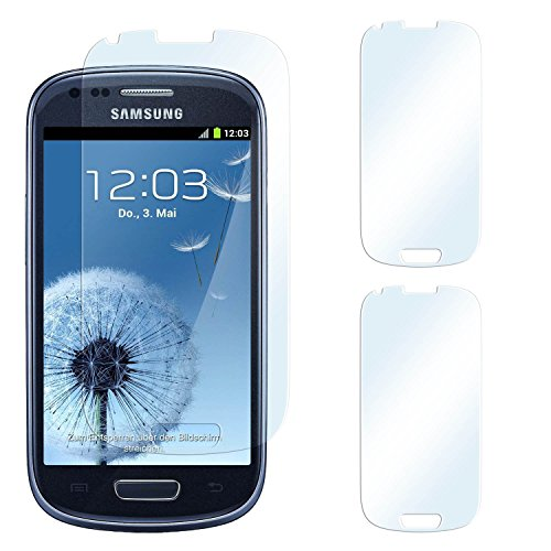 2x Samsung Galaxy S3 Mini Schutzfolie Klar Display Schutz [Crystal-Clear] Screen protector Bildschirm Handy-Folie Dünn Displayschutz-Folie für Samsung Galaxy S3 Mini S III Displayfolie - Bildschirm gewölbt, Folie bewusst kleiner Screen Protection Für Galaxy S3