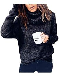 OranDesigne Maglione Donna Invernali Caldo Alta Colletto Maglioni MaglieriaOversize Sciolto Knit Pullover Tops
