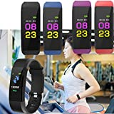 Waterproof Smart Bracelet Distance Heart Rate Blood Oxygen Fitness Wristband