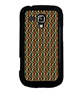 Fiobs Designer Back Case Cover for Samsung Galaxy S Duos S7562 (jaipur rajasthan african america cross pattern)