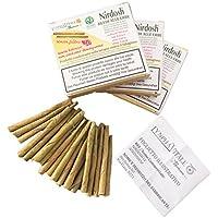 Nirdosh® - 3 paquetes de beedies de hierbas ayurvédicas - sin nicotina, tabaco ni papel - SIN FILTRO - DISPOSITIVO MEDICO