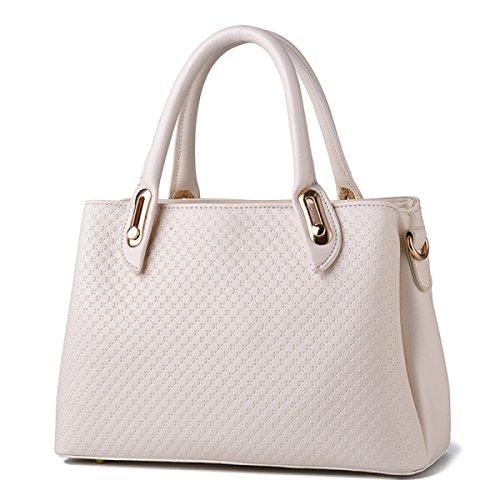 PU Damen ZHI Leder Handtasche WU Umhängetasche Handtasche Weiches Umhängetasche White nTZW5IqU