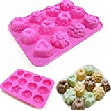 Snyter Silicon Chocolate Moulds - Non-stick Chocolate/Muffin Mould Tray - Reusable Moulds