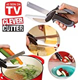 Style Eva 2 in 1 Stainless Steel Cleaver Cutter Comes with Locking Hinge, Kitchen Knife and Chopping Board with Spring Action