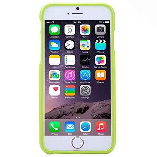 GHC Cases & Covers, Gelee schimmernde Puder TPU Fall für iPhone 6 u. 6S ( Color : Black ) Green