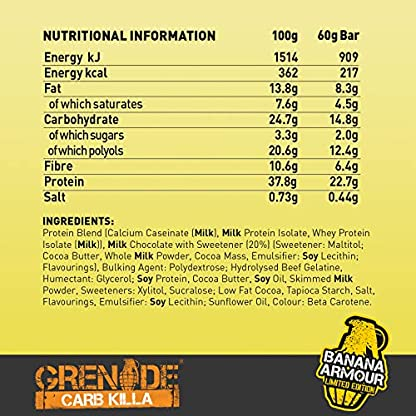 Grenade Carb Killa High Protein and Low Carb Bar, 12 x 60 g - A Selection Box 2