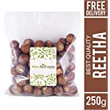 Attar Ayurveda Dried Reetha nuts/whole/Soapnuts for Hair, 100% Natural (Raw form) (250 grams)