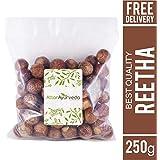Attar Ayurveda Dried Reetha nuts/whole/Soapnuts for Hair, 100% Natural (Raw form) (250 grams)