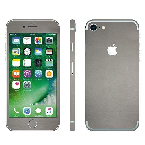 IPHONE 7 SILBER GRAU MATT FOLIE SKIN ZUM AUFKLEBEN bumper case cover schutzhülle i phone (Iphone 4 Gold Aufkleber Skin)