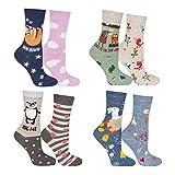 soxo 8 Paar Damen Socken mit Muster   Mehrfarbige, Bunte Socken für Jede Stimmung   Schöne Frauen Socken mit Lustigen Geschichten, Multicolour, 35 - 40 EU