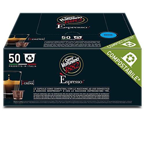 Caffè Vergnano 1882 Èspresso1882 Dec - 50 Capsule - Compatibili Nespresso e Espresso1882 Tre