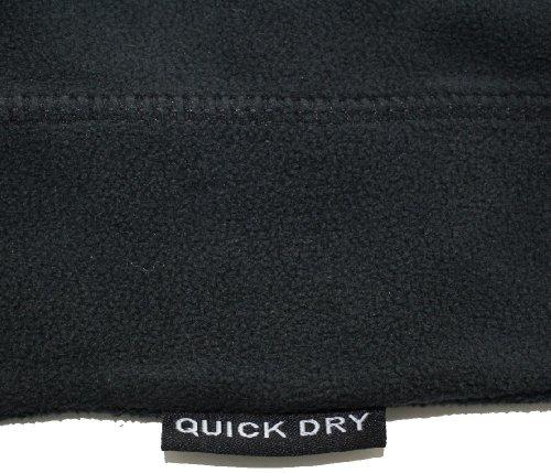 Ultrasport Maglia Funzionale in Pile per Sport/Sci da Donna, Micropile con Funzione Quick Dry Nero