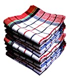#5: Space Fly Premium Quality, Highly Absorbent Big Size 20X20inch 100% Cotton Multipurpose Kitchen, Chapatis Napkin and cleaning, Cloth, Duster (10 pieces_Multi Color Striped)