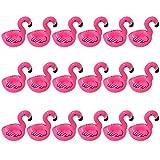 Yuccer Fenicottero Gonfiabile Sottobicchieri, Cup Holders per Una Festa per Piscina Bambini e Adulti (18 Pack)
