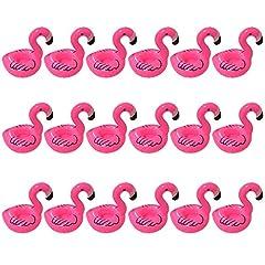 Idea Regalo - Yuccer Fenicottero Gonfiabile Sottobicchieri, Cup Holders per Una Festa per Piscina Bambini e Adulti (18 Pack)