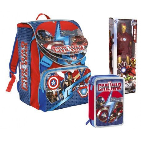 Zaino Captain America Civil War Con Personaggio 30 cm