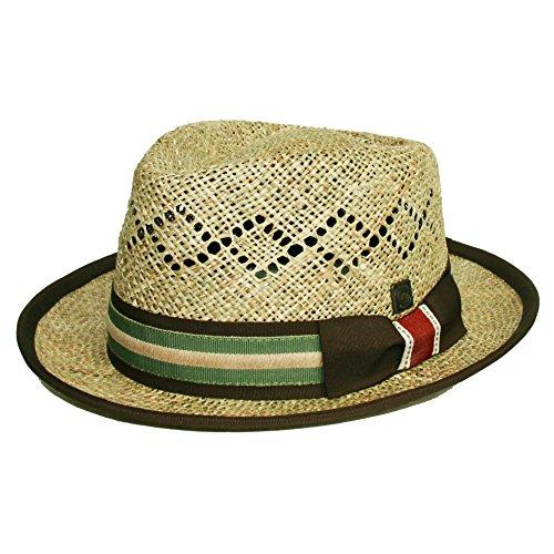 DASMARCA Gilbert Nature Summer Straw Fedora Hat