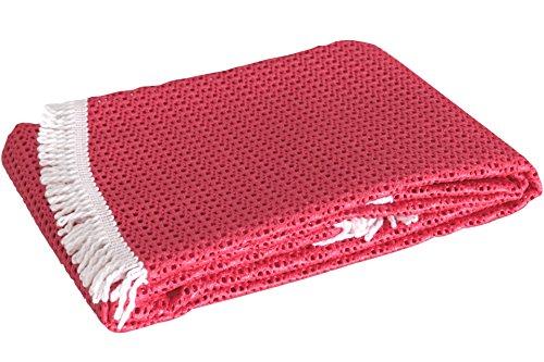 Rustikal Gartentischdecke Tischdecke, rot, 130x160x0,7 cm, 20627